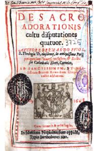De sacro adorationis cultu disputationes quatuor
