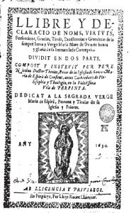 Llibre y declaració